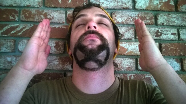 Artistic Guy Shaves His Beard Into Hairy Masterpieces