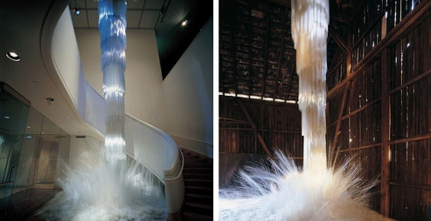 "Artist Creates Fragile ""Waterfalls"" That Aren't Made Of Water"