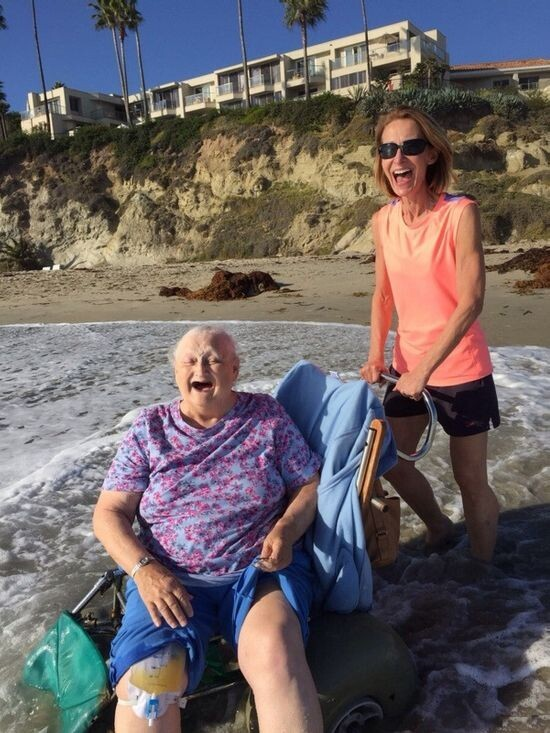 WAT Grandmother Goes To The Beach