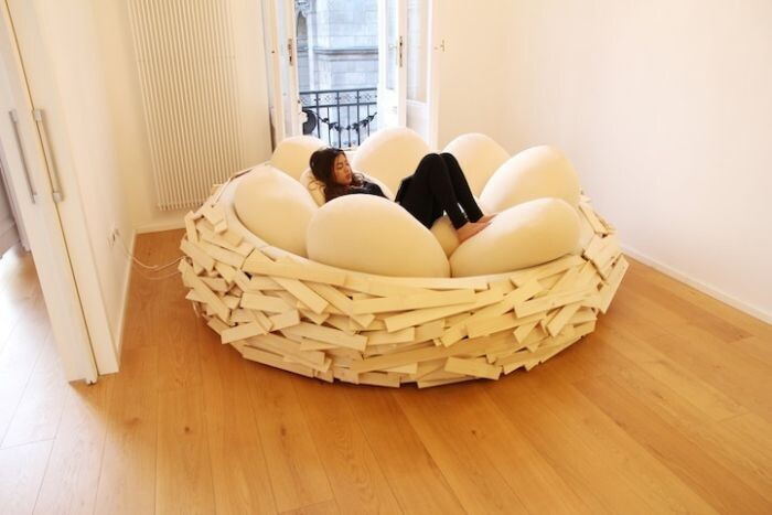 This Human Sized Nest Is The Cure For The Common Couch