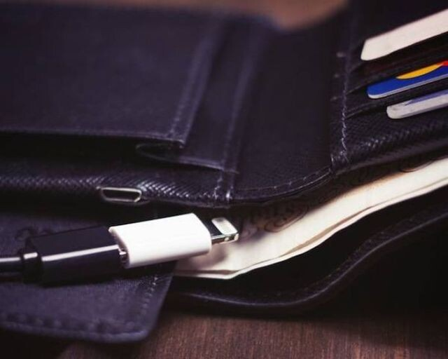A Two-in-one Wallet and Charger