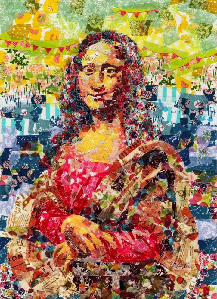 Famous Paintings Recreated with Layers of Masking Tape