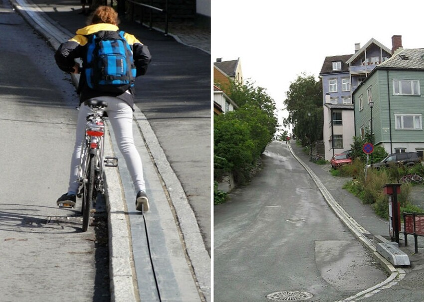 Norway Has World's First Bike Escalator
