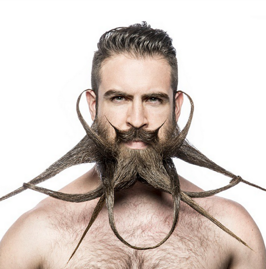This man's incredible beard is an evolving work of art Read more at ht