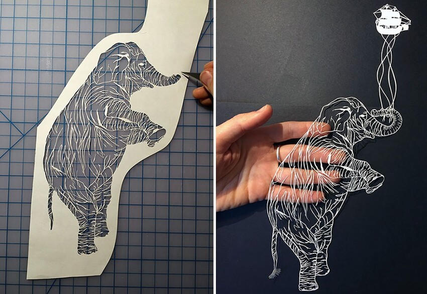 Incredibly Detailed Hand-Cut Paper Art