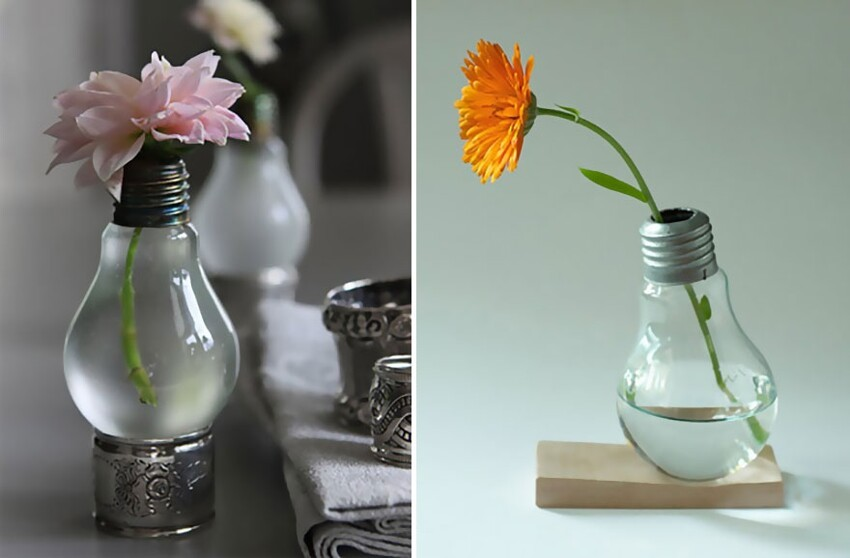 19 Awesome DIY Ideas For Recycling Old Light Bulbs