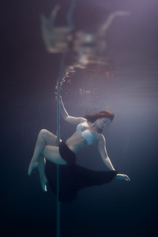 Incredible Underwater Pole Dancing Photographs By Brett Stanley