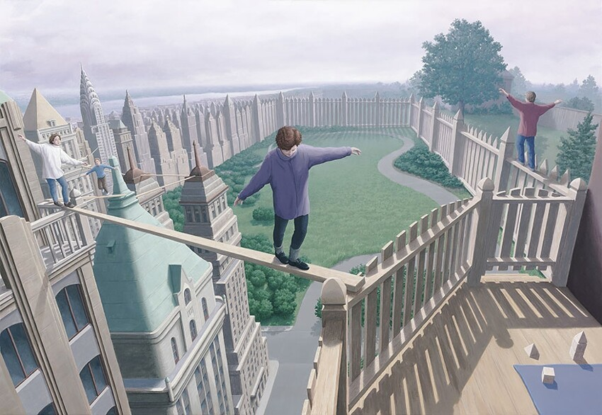 25 Mind-Twisting Optical Illusion Paintings By Rob Gonsalves