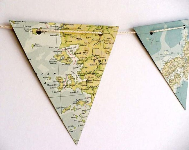 Cut them into triangles and make a cute garland.