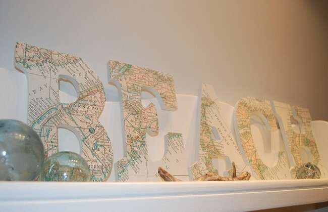 Create decorative decoupage cardboard initials.