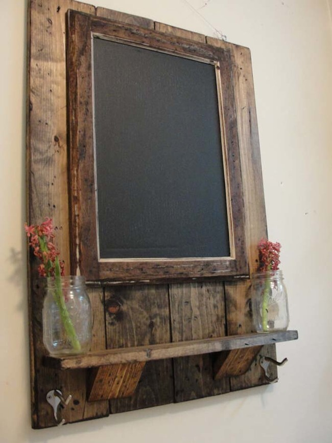 Glue a chalkboard to a slab of wood and hang it in your home for forget-me-nots.