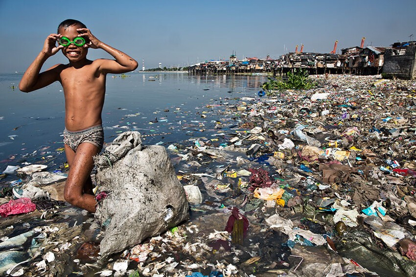 He Spends Each Morning Looking For Recyclable Plastic That He Can Sell For 35 Cents Per Kilo To Help His Family