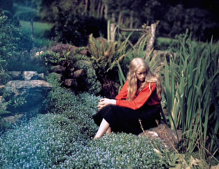 Christina In Red: Rare 1913 Color Photos