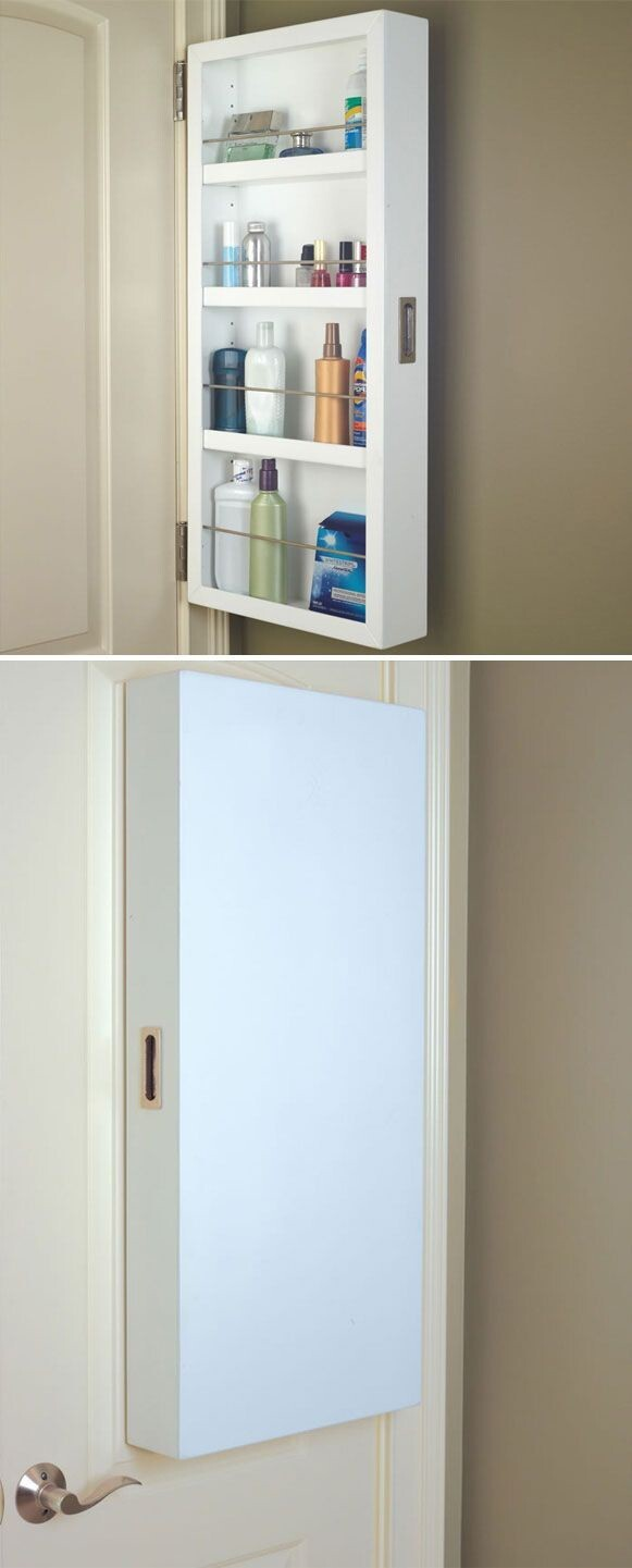 This cabinet that attaches to the back of your door.