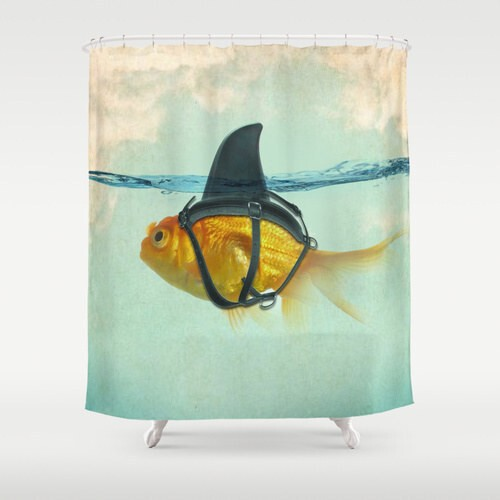 This shower curtain that will remind you that things are not always what they seem.