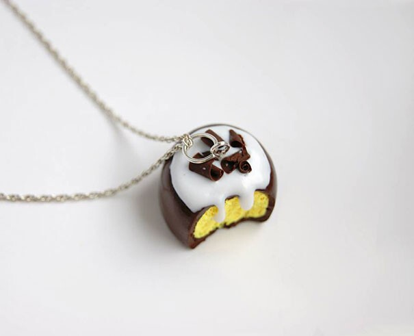Tiny Cute Food Jewelry I Made From Polymer Clay