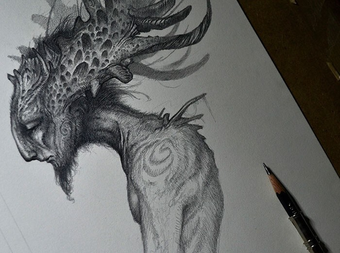 Shadows And Mist: I Draw Mystical Creatures With Graphite