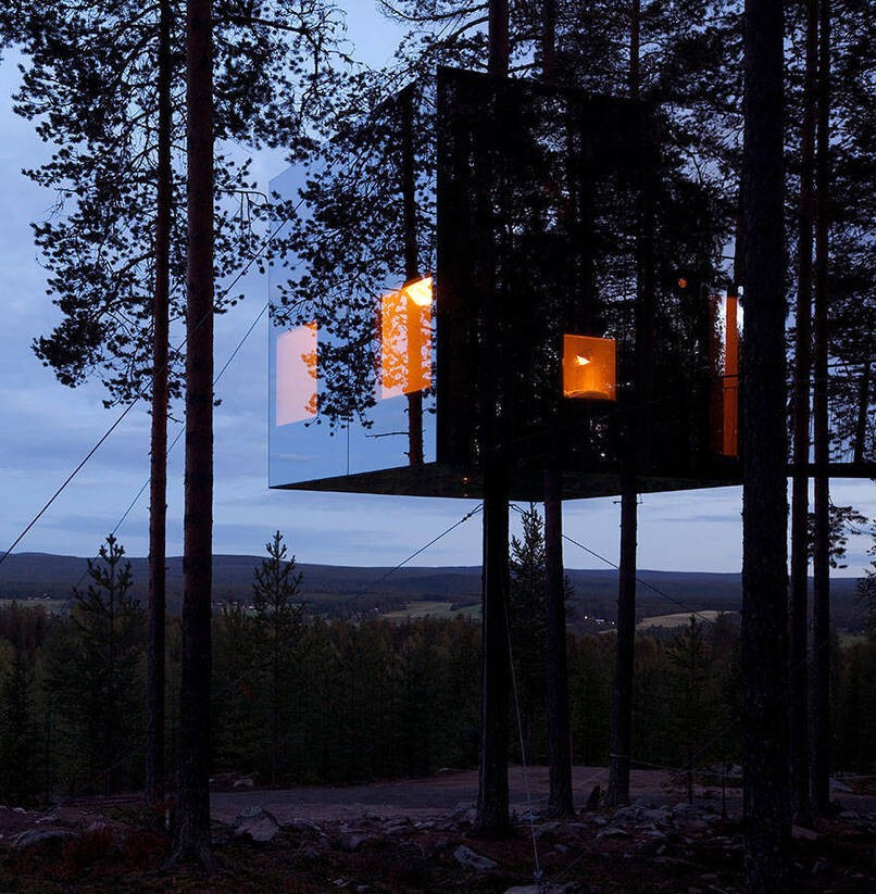 9. Mirrorcube Tree House Hotel In Sweden