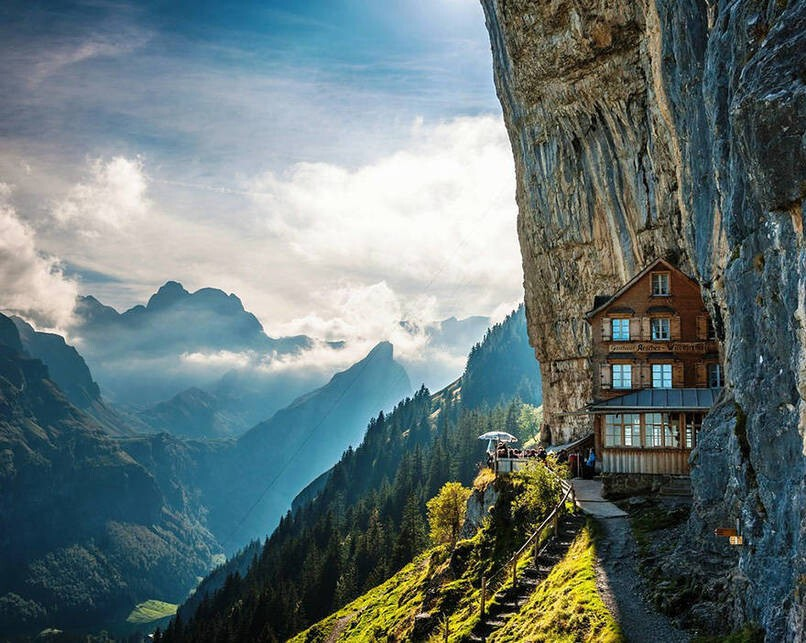 15. Äscher Cliff, Switzerland
