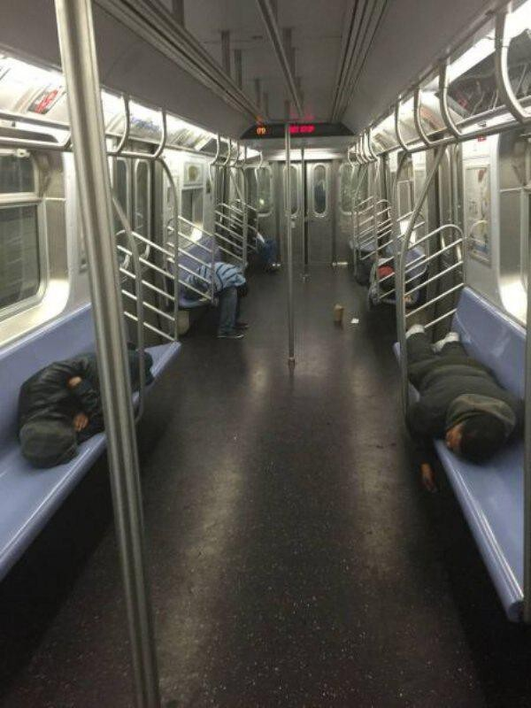 Subways are not where normal happens
