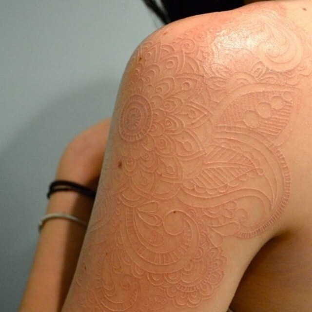 20 Of The Most Delicate And Beautiful White Ink Tattoos