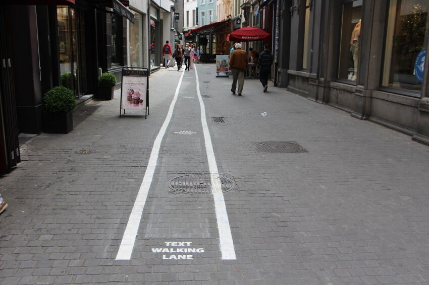 Phone Addicts Get Their Own Text-Walking Lanes In Belgium