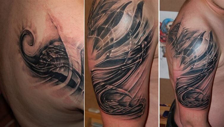 16 Bio-Mechanical Tattoos To Lift Your Creativity