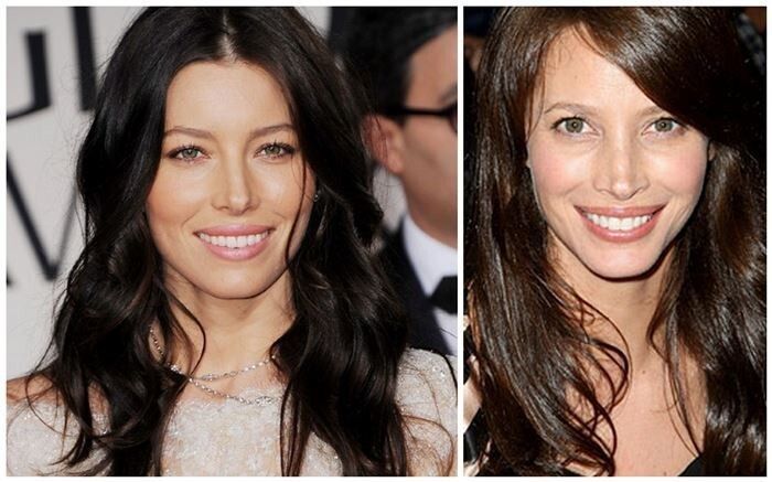 Jessica Biel and Christy Turlington