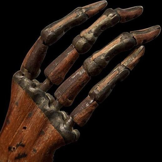 14. This prosthetic hand, circa 1800, suggests many advancements in 90 years.