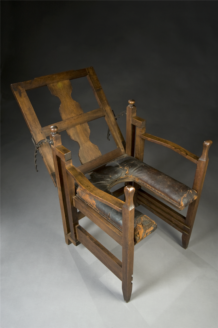 10. European birthing chair, circa 1750. It's adjustable!