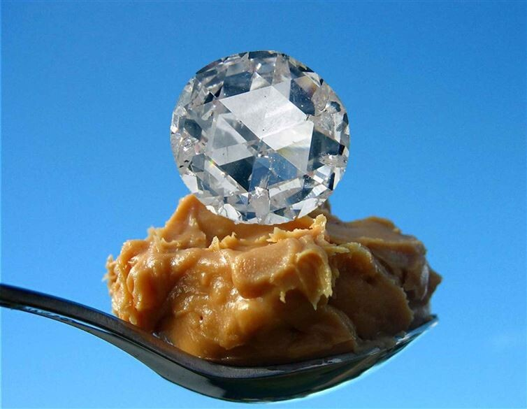 12. Geophysicists have determined a way to turn peanut butter into diamond gemstones.