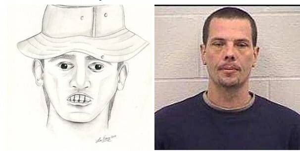 Somehow, Police were able to find this man convicted of bank robbery with this sketch. How they did it, we'll never know!