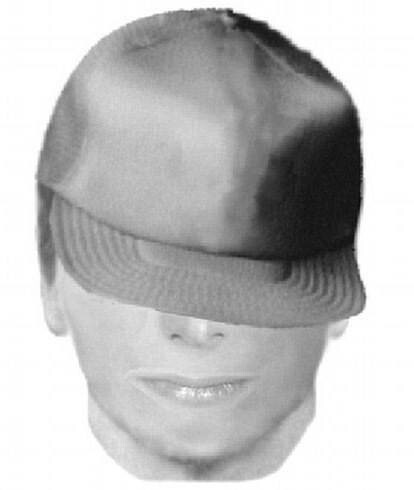 This distinctive hat will make it easy to catch this suspect...not.