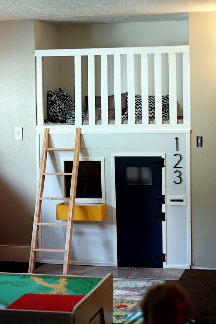 9. Turn an unused space into a kid's mini apartment.