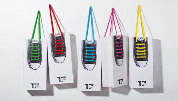 7. Shoe Lace Hanging Bags