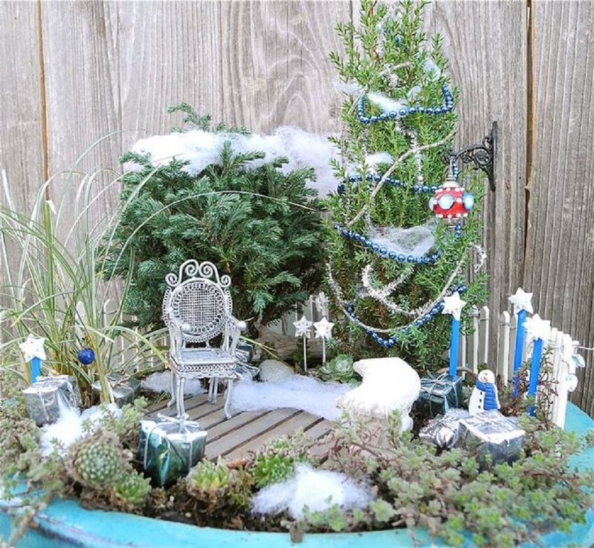 7. Snow in the Fairy Garden