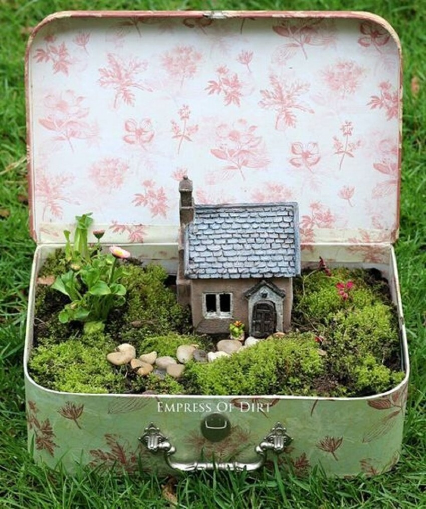 4. Fairy Garden in a Suitcase