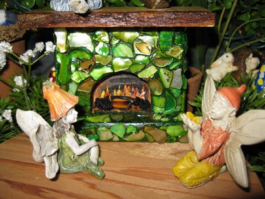 9. A Fireplace in the Fairy Garden