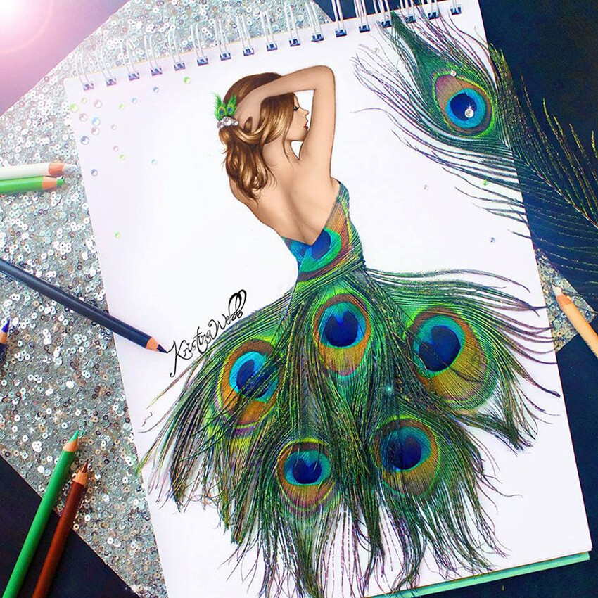 19-Year-Old Artist Uses Real-Life Objects To Complete Her Illustrations