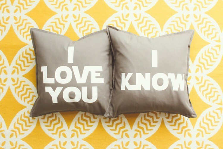"""I Love You/ I Know"" Pillow Cover Set"