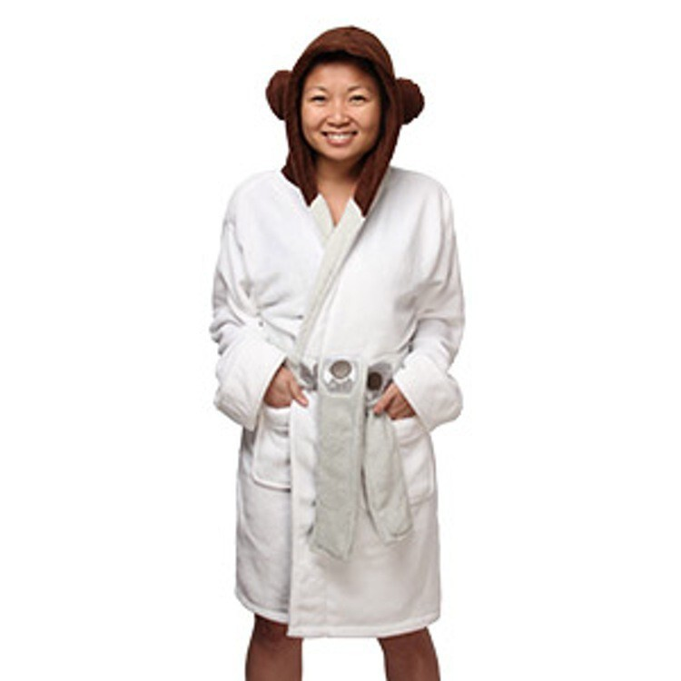 Princess Leia Ladies' Fleece Bath Robe