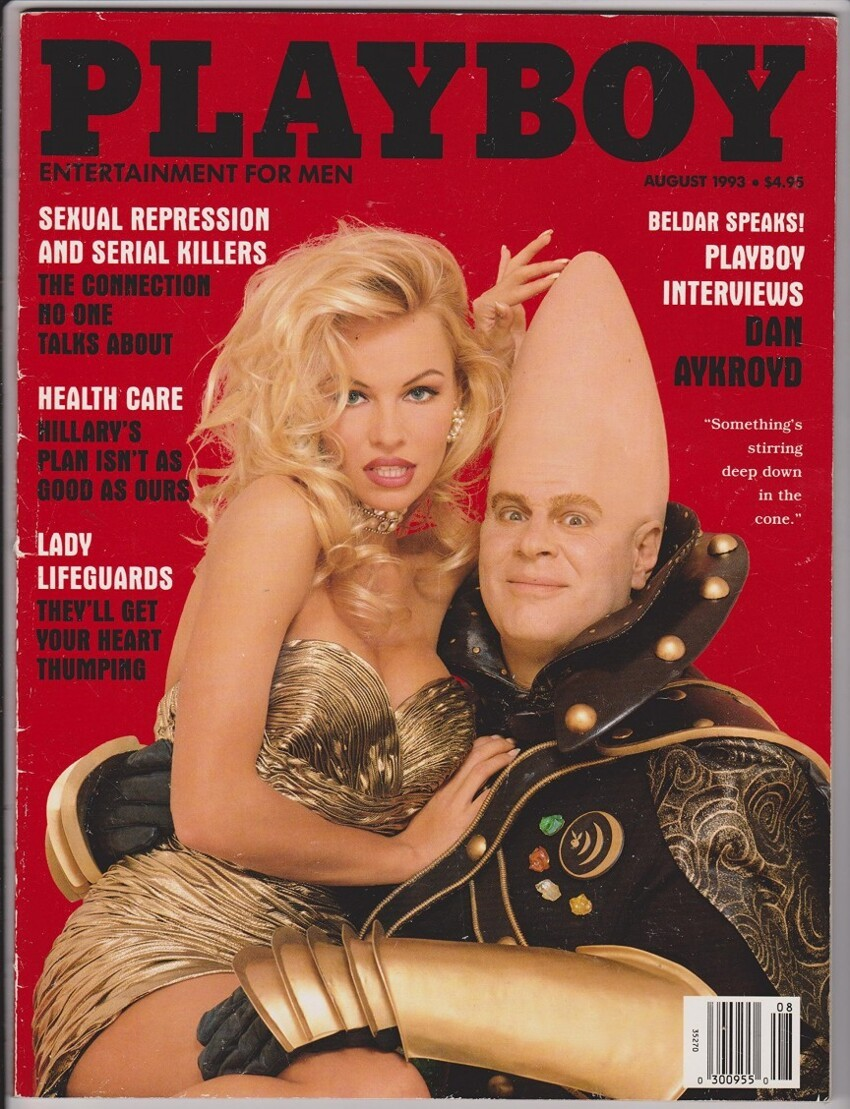 5. August 1993 – Pamela Anderson and Dan Aykroyd (Original Cover Photo)