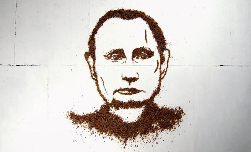 Jolita Vaitkutė Made A Putin's Portrait From Bread And Let Chickens Eat It