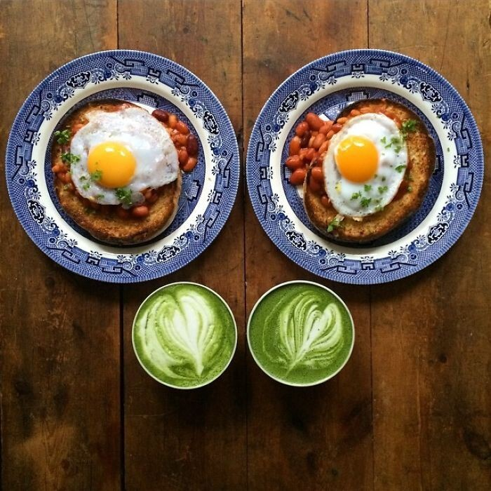 Boyfriend Makes Symmetrical Breakfasts For Himself And His Partner Every Morning