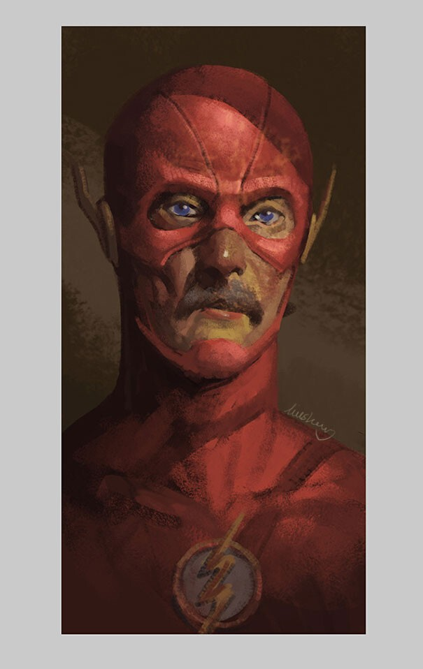 Artist Shows How Superheroes Will Look When They Retire