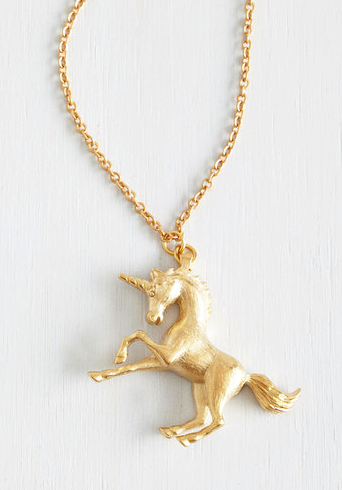 2. This magical unicorn necklace: