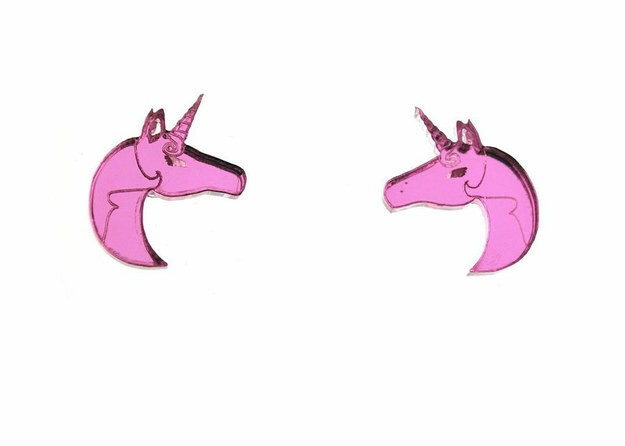 19. These reflective pink earrings: