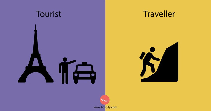 10+ Differences Between Tourists And Travellers