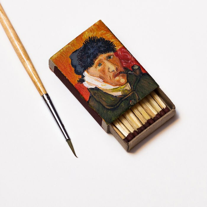 """Self-portrait with bandaged ear and pipe"" by Vincent Van Gogh"