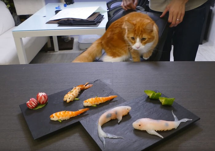 Sushi That Looks Like Real-Life Swimming Koi In A Few Simple Steps